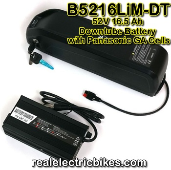 Details on this 52 Volt e-bike lithium-ion battery pack