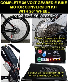 electric assist motor conversion kits for comfort bikes, beach cruiser e-bikes, electric mountain bikes and more...