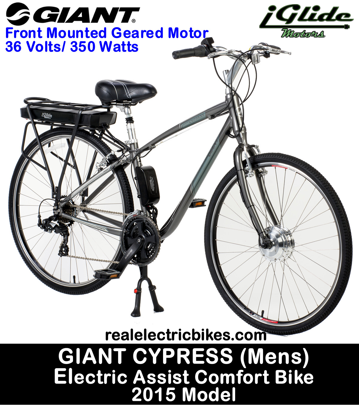 Giant Cypress Size Large electric assist comfort city bike/ commuter ...