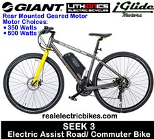Lithionics iGlide/ Giant Bicycles electric assist road/ city/ commuter bicycle - click for more information...