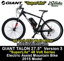 Click here for more info on this Giant Talon 27.5 Version 3 e-bike with 48 Volt electric motor...