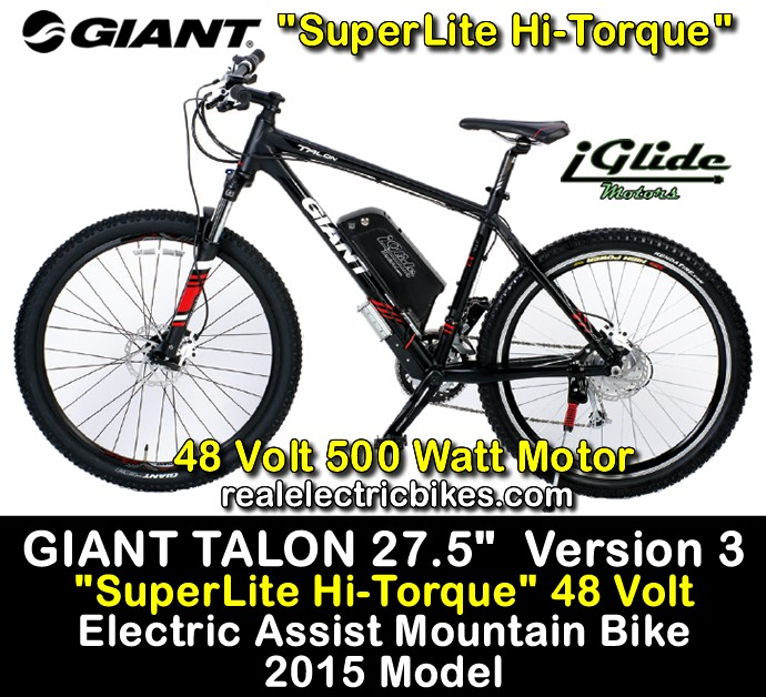 Electric assist commuter bike, cruiser bike, mountain bike by Lithionics iGlide Electric Bicycles and Giant Bicycles