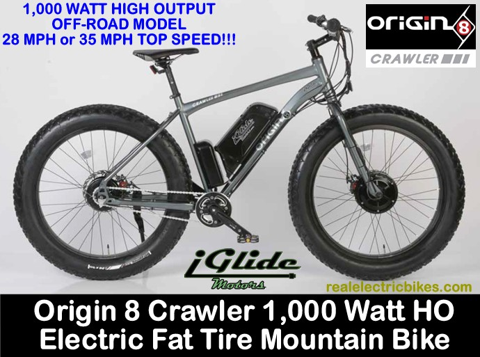 Origin 8 Crawler Electric Assist Fat Tire E Bikes Comfort
