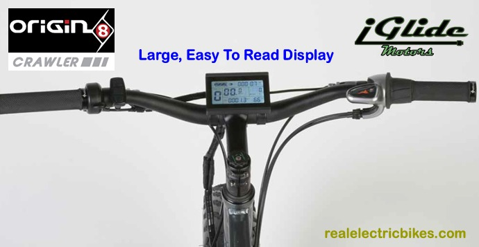 Origin 8 Crawler e-bike with Cycle Analyst computer display