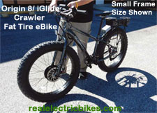 Click on the Origin8 Crawler electric fat tire bike photo for a larger image...