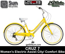Lithionics iGlide/ Sun Bicycles electric assist city/ comfort bicycle - click for more information...