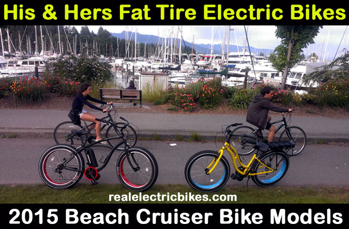 Sun Crusher 7 fat tire electric beach cruiser bikes