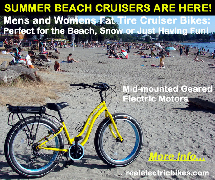 Click here for details on these Sun Crusher ebikes - perfect for beach cruising, commuting and having fun!