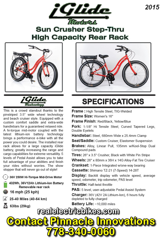 Click here for a larger e-bike spec sheet