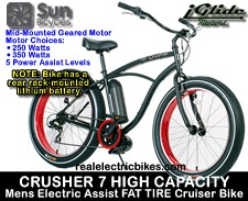 Lithionics iGlide/ Sun Bicycles electric assist cruiser bicycle - click for more information...