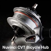 Nuvinci constantly variable shift fat tire bike hub