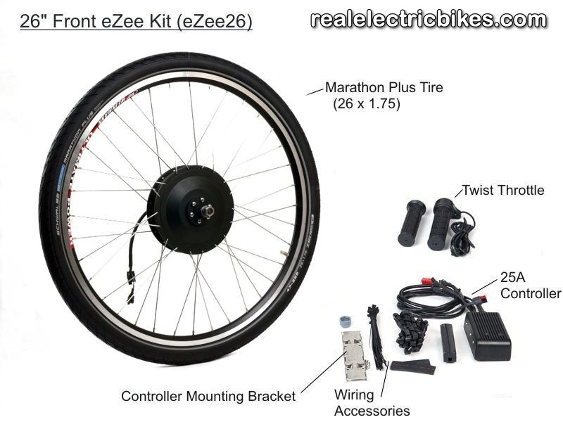 Basic eZee 48 Volt 1000 Watt Front Wheel Electric Assist Bicycle