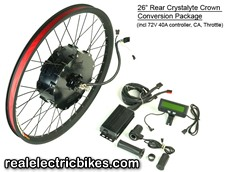 electric assist bicycle motor conversion kits for comfort bikes, beach cruiser e-bikes, electric mountain bikes and more...