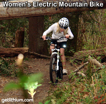 Giant electric assist front suspension women's mountain bike