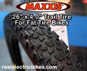 Click here for a larger image of this Maxxis optional knobby fat tire bike tire...