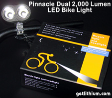 Electric bike 2,000 Lumen super powerful headlamps
