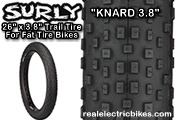 Click here for a larger image of this Surly Bikes optional knobby fat tire bike tire...
