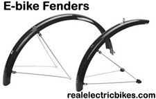 Electric bicycle fenders offer all season riding