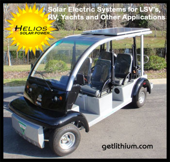 Click here for small solar power systems by Solar EV: fexible and rigid siolar panel kits from 100 watts to 440 watts for Golf Carts, RV, LSV, Van Conversions, Yachts and Sailboats...